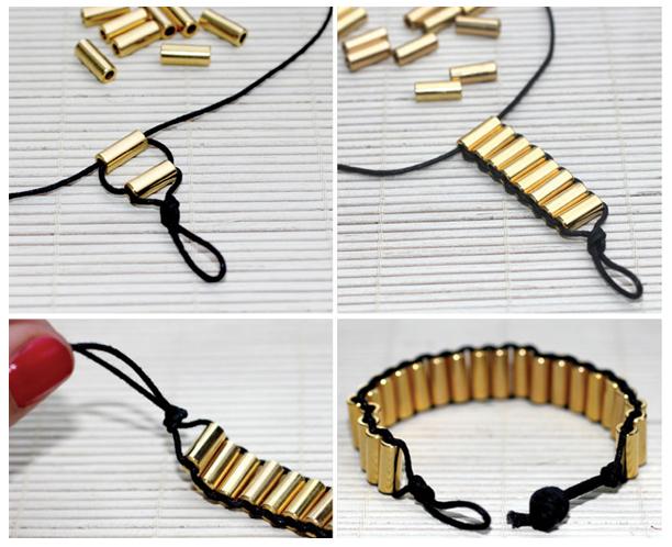 Мы описали несколько основных примеров изготовления браслетов своими руками, но...  Не менее привлекательно смотрится...