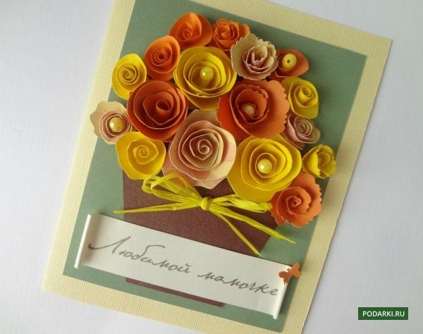 Подарки на день рождения своими руками цветы
