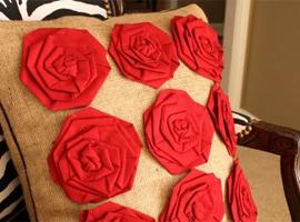 Стильные розы из ткани