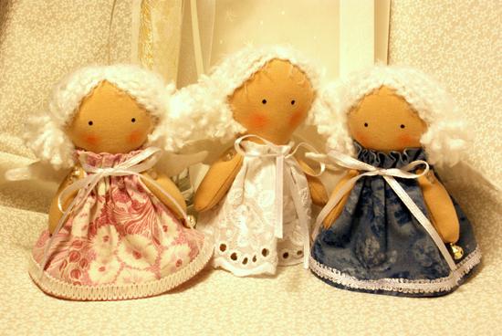 Елочные игрушки ангел своими руками