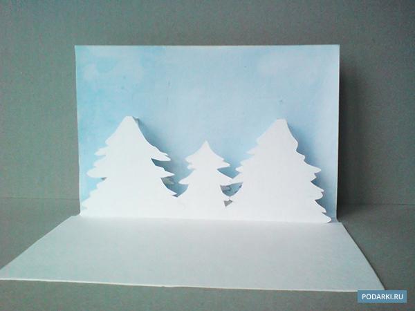 Новогодние pop up открытки
