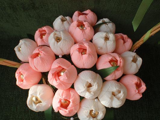 Букет цветы из конфет своими руками