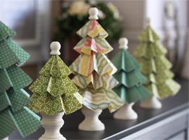 Новогодние ёлки из картона