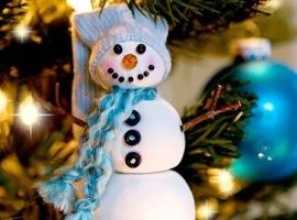 Ёлочная игрушка – снеговик