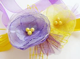 Мастер-класс «Цветочный пояс из лент»