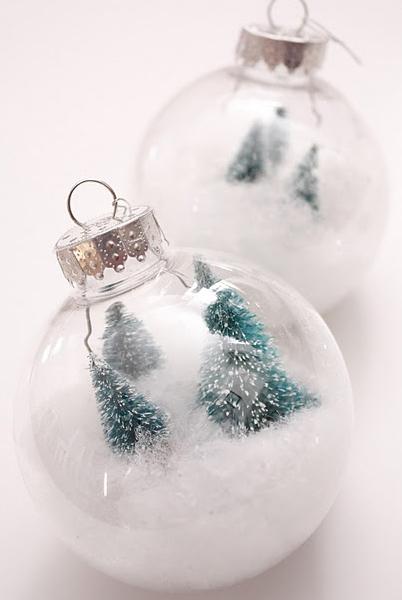 Снежные шары к новому году своими руками