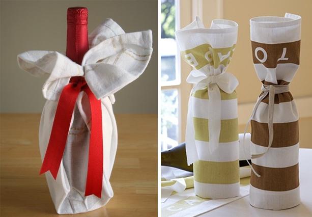 Оформление подарка с бутылкой своими руками