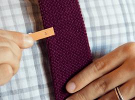 Кожаный зажим для галстука