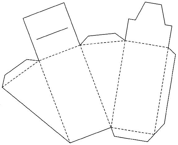 1) Вырезаем шаблон по схеме.