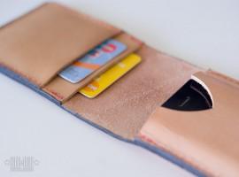 Кожаный кошелек-чехол для iPhone своими руками