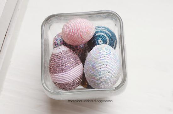 Пасхальные яйца из бисера своими руками.