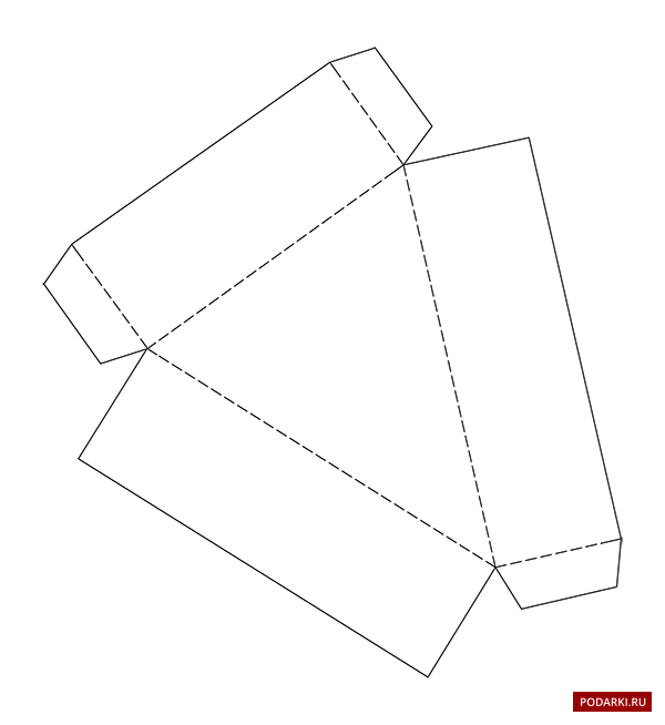 Как сделать квадратный торт из бумаги