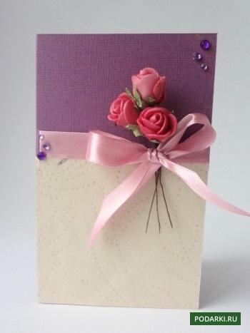 Пригласительная открытка на новый гБумажная роза своими