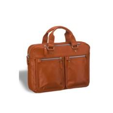 Деловая светло-коричневая сумка для документов Brialdi Parma