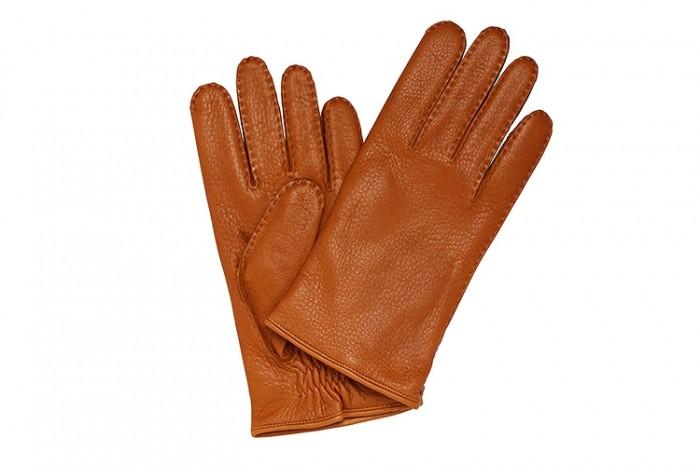 Перчатки Merola из кожи оленя, рыжие