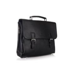Черный мужской портфель L.Facini