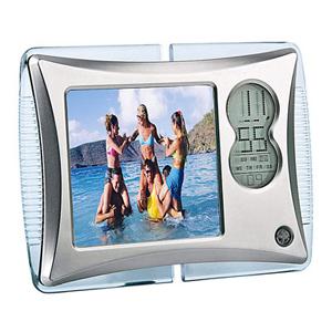 Рамка для фотографии с подсветкой и часами
