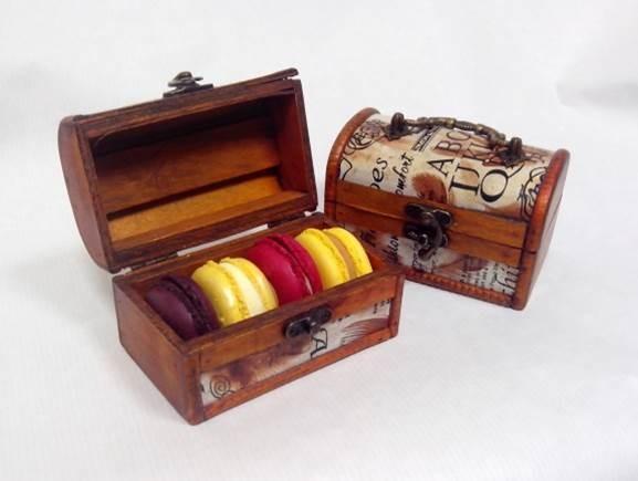 Подарочный набор Сундучок с макарони