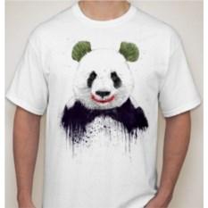 Мужская футболка Панда, зеленые уши
