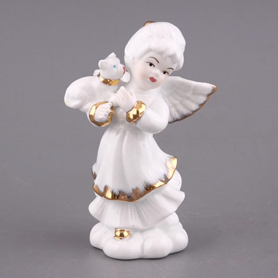 Фигурка Белый ангелочек с котенком Hangzhou Jinding