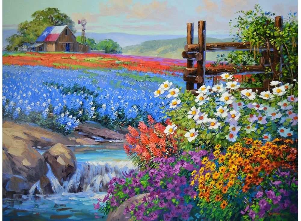 Картины по номерам «Цветочный ковёр»