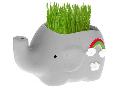 Сувенир растущая трава Слоненок, серый
