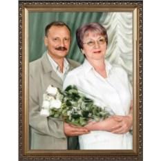 Шикарный портрет на серебряную свадьбу