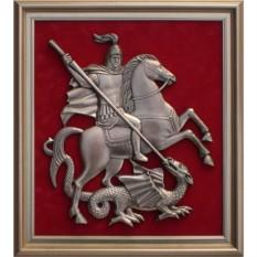 Панно Герб Москвы размером 42х39 см