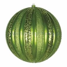 Елочная игрушка Арбуз зеленого цвета
