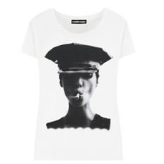 Женская футболка Kate Moss Smoke