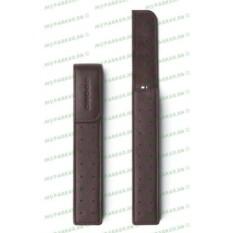 Темно-коричневый кожаный футляр для одной ручки Cross