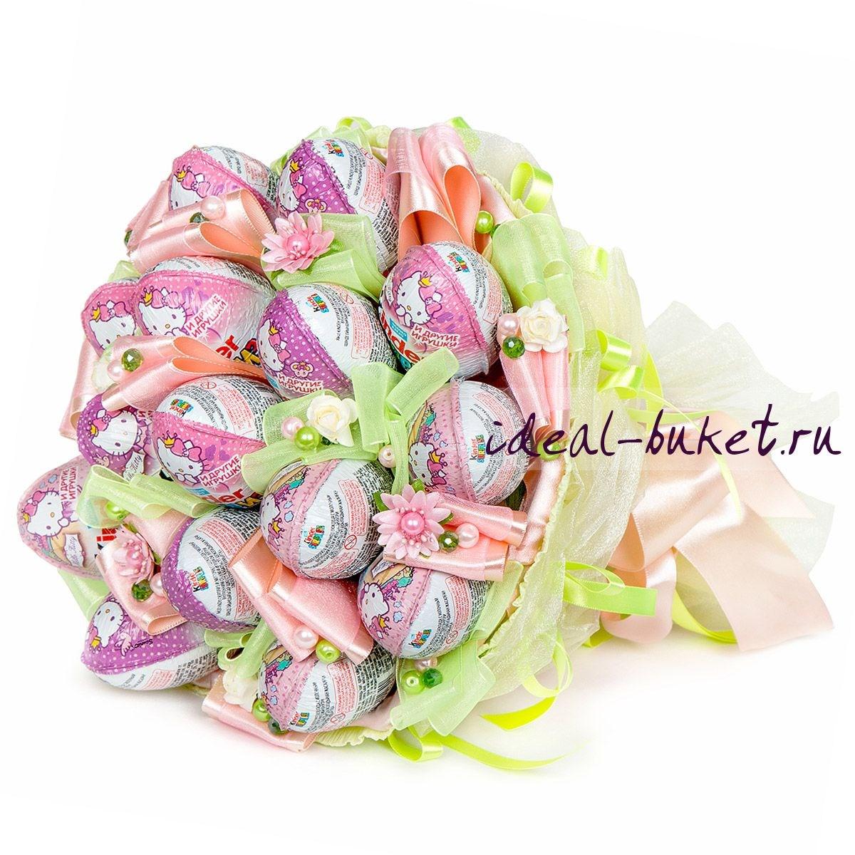 Мини-букет конфет Киндер-мания