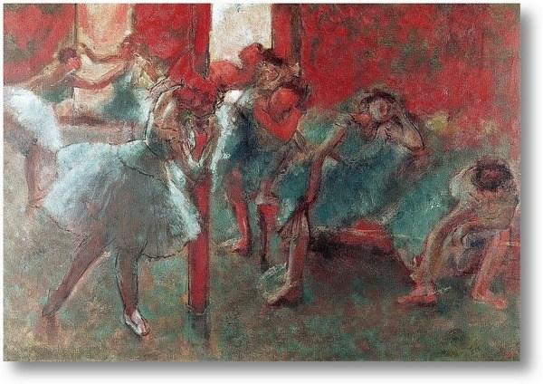 Репродукция картины Танцоры на репетиции
