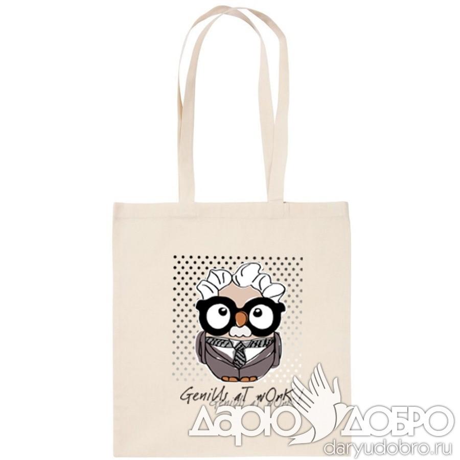 ЭКО-сумка с совой Эйнштейн