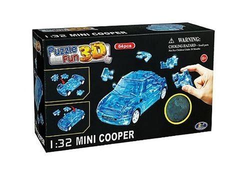 3D пазл синий Mini Cooper