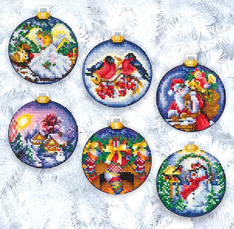 Набор для вышивания Новогодние шары