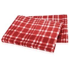 Красный плед в чехле Эдинбург (120х150 см)