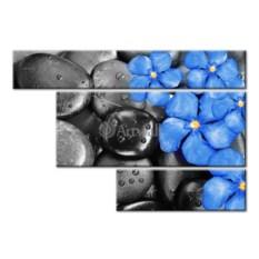 Модульная картина «Синее на черном» 50×35 см