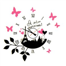 Настенные часы-наклейка Travel Time