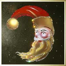 Новогодняя картина Swarovski «Новогодний месяц»