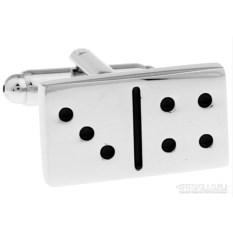 Запонки «Домино» в именной коробке с гравировкой