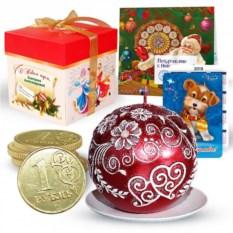 Набор с новогодней свечой «Рубин»