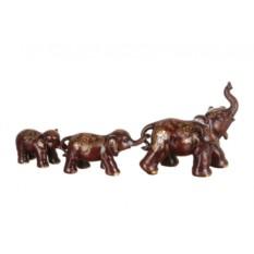 Комплект из 3 фигурок Слон - семейное благополучие