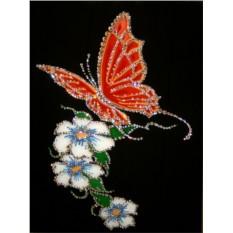 Картина с кристаллами Сваровски Бабочка