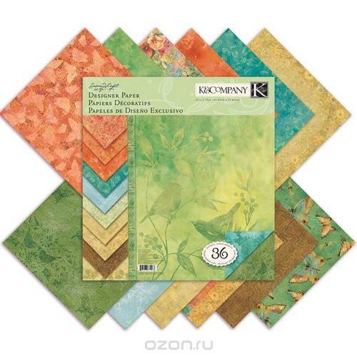 Набор бумаги для скрапбукинга K&Company Палитра. Секреты природы, 36 листов