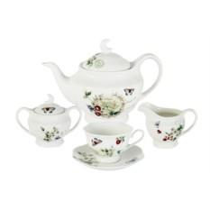 Фарфоровый чайный сервиз на 6 персон Ягодная поляна