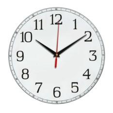Белые классические настенные часы