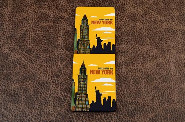 Визитница из кожи Welcome to New York, FELIZ