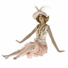 Кукла фарфоровая Lidia, с бусами
