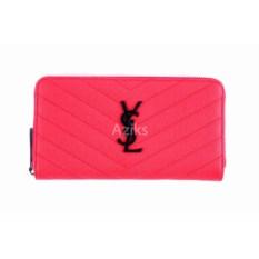 Красный женский кошелек из экокожи YSL